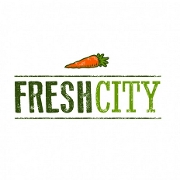 This is the restaurant logo for Fresh City