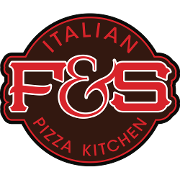 This is the restaurant logo for Fire and Stone Italian Pizza Kitchen