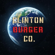 This is the restaurant logo for Clinton Burger Co.