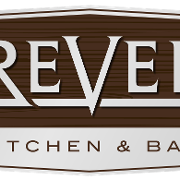 This is the restaurant logo for Revel Kitchen & Bar