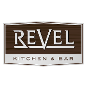 This is the restaurant logo for Revel Kitchen & Bar