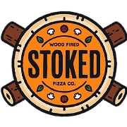 This is the restaurant logo for Stoked Pizza