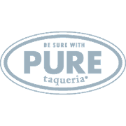 This is the restaurant logo for Pure Taqueria