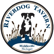 This is the restaurant logo for Riverdog Tavern