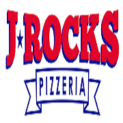 This is the restaurant logo for JRocks Pizzeria