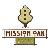 This is the restaurant logo for Mission Oak Grill