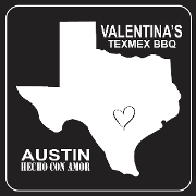 This is the restaurant logo for Valentina's Tex Mex BBQ
