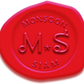 This is the restaurant logo for Monsoon Siam