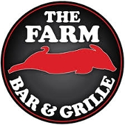 This is the restaurant logo for The Farm Bar & Grille