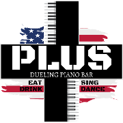 This is the restaurant logo for PLUS Dueling Piano Bar
