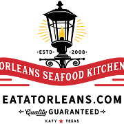 This is the restaurant logo for Orleans Seafood Kitchen