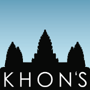 This is the restaurant logo for Khon's on Palafox
