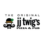 This is the restaurant logo for The Original JJ Twigs Pizza