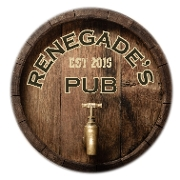 This is the restaurant logo for Renegade's Pub North