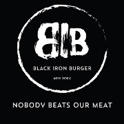 This is the restaurant logo for BLACK IRON BURGER