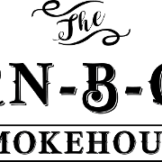This is the restaurant logo for The Barn-B-Que Smokehouse