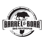 This is the restaurant logo for Barrel & Boar