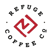 This is the restaurant logo for Refuge Coffee