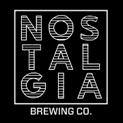 This is the restaurant logo for Nostalgia Brewing