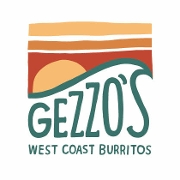 This is the restaurant logo for Gezzo's West Coast Burritos