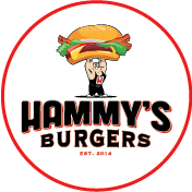 This is the restaurant logo for Hammy's Burgers