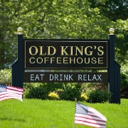 This is the restaurant logo for Old King's Coffeehouse