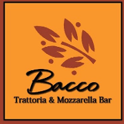 This is the restaurant logo for Bacco Trattoria & Mozzarella Bar