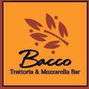 This is the restaurant logo for Bacco Trattoria & Mozzarella Bar
