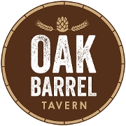 This is the restaurant logo for Oak Barrel Tavern