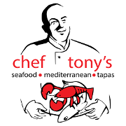 This is the restaurant logo for Chef Tony's Seafood Restaurant