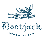 This is the restaurant logo for Bootjack Wood Fired