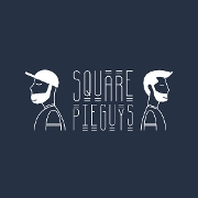 This is the restaurant logo for Square Pie Guys