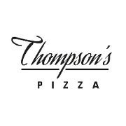 This is the restaurant logo for Thompson's Pizza