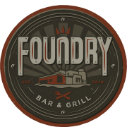 This is the restaurant logo for Foundry Bar & Grill