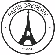 This is the restaurant logo for Paris Creperie Seaport