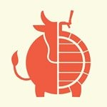 This is the restaurant logo for Moo & Brew Restaurant and Bar