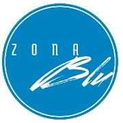 This is the restaurant logo for Zona Blu