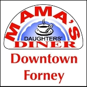 This is the restaurant logo for Mama's Daughters Diner