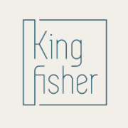 This is the restaurant logo for Kingfisher Restaurant and Deli