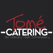 This is the restaurant logo for Tomé Catering