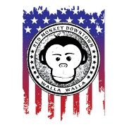 This is the restaurant logo for Red Monkey Downtown
