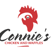 This is the restaurant logo for Connie's Chicken and Waffles Broadway
