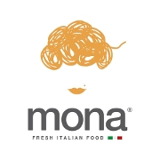 This is the restaurant logo for Mona Fresh Italian