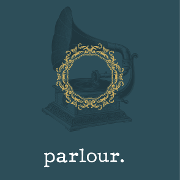 This is the restaurant logo for Parlour