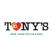 This is the restaurant logo for Tony's New York Style Pizza