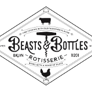 This is the restaurant logo for Beasts and Bottles
