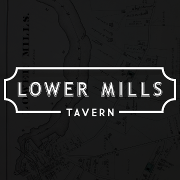 This is the restaurant logo for Lower Mills Tavern