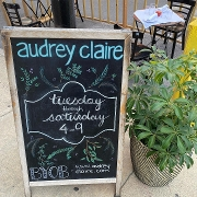 This is the restaurant logo for Audrey Claire
