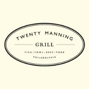 This is the restaurant logo for Twenty Manning Grill
