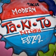 This is the restaurant logo for Takito Kitchen